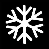 Sneeuwvlok pictogram vectorillustratie