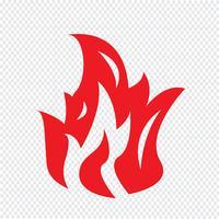 Brand vlam pictogram vectorillustratie