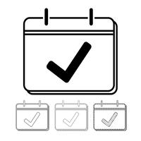 Kalender vector pictogram Illustratie ontwerp