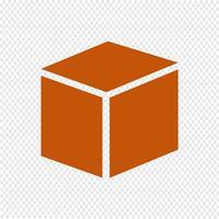 Kubus pictogram vectorillustratie