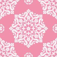 Naadloos damastpatroon. Roze textuur
