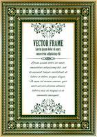 Luxe vintage sierlijke frame vector