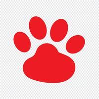 dierlijke voetafdruk pictogram vectorillustratie vector