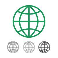 Globe vector pictogram