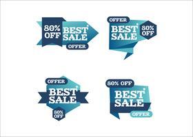 Kleurrijk schoon creatief het winkelen reclamelintart vector