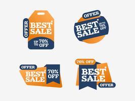 Koele beste verkoop die creatieve vectorlintenmarkering winkelt vector