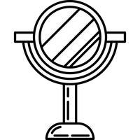 Schoonheidstribune spiegel pictogram Vector