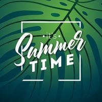 Het is zomertijd typografie
