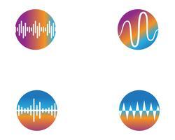 geluidsgolf ilustration logo vector pictogrammalplaatje