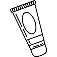 gezichtscrème pictogram vector
