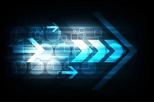 Het vector abstracte concept van achtergrondtechnologiepijlen.