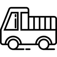 mini vrachtwagen pictogram vector