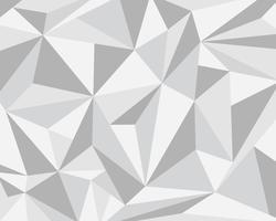 Abstracte witte grijze veelhoekige geometrische achtergrond - vectorillustratie.