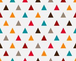 De abstracte kleurrijke geometrische achtergrond van het driehoeks naadloze patroon - Vectorillustratie