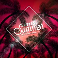 Hallo zomer-typografie
