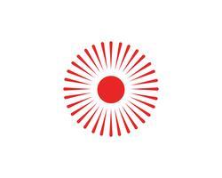 Zon logo en symbolen ster pictogram web vector