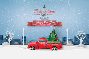 Peper kunst van vrolijk kerstfeest en winterseizoen