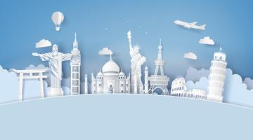 Illustratie van de dag van het wereldtoerisme vector