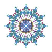 Vector bloemenmandala illustratieontwerp