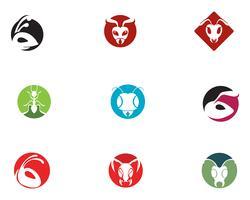 Ant hoofd Logo sjabloon vectorillustratie