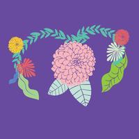 vrouw met baarmoeder gezondheid concept op roze achtergrond