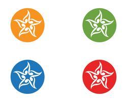 Star-logo en symbolen pictogrammen sjabloon app vector