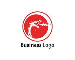 draak platte kleur logo sjabloon vectorillustratie