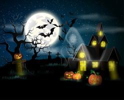 Happy Halloween-poster. Vector illustratie.