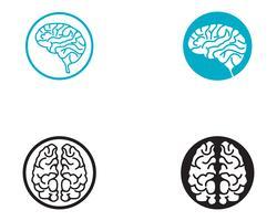 hersenen logo sjabloon en symbolen pictogrammen app