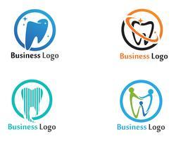 Tandheelkundige zorg Logo en symbolen vector sjabloon