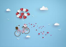 Illustratie van liefde en valentijnskaartdag vector