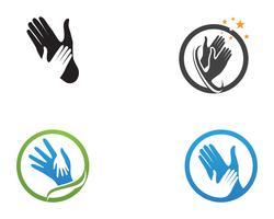 Help hand logo en vector sjabloon symbolen
