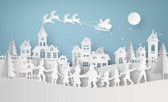 Illustratie van vrolijke Kerstmis en gelukkig nieuw jaar