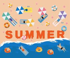 Mensen zomervakantie op het strand vector