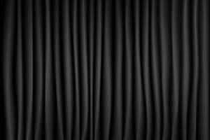 Zwart-wit gordijn theater scène fase achtergrond. Achtergrond met luxe zijdefluweel. Abstracte textuur.