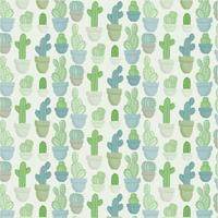 Vector naadloze cactussen patroon