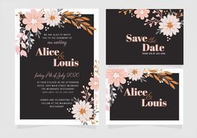 Vector elegante bruiloft uitnodiging sjabloon