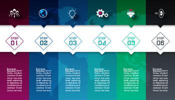 Kleurrijke staven met zakelijke pictogram infographics.