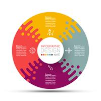 Cirkellabels vormen de balk met infographic groepen. vector
