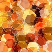 Naadloze overlappende kleurrijke zeshoek, abstracte achtergrond. vector