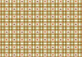 Leuke geruite val vector patroon