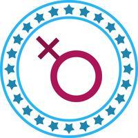 Vector vrouwelijk teken pictogram