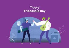 Jongeren vieren vriendschapsdag vector