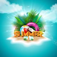 Vector Hallo zomervakantie illustratie