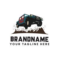 Offroad extreem avontuur. automotive logo sjabloon. Vector illu