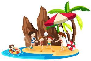 Meisje op eilandvakantie