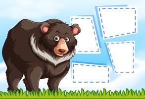 Grizzly beer op notitie sjabloon