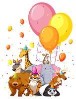 Set van verjaardag dieren vector