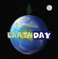 Een pictogram van de aarde dag vector