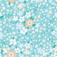 Naadloze bloemmotief. Bloem achtergrond. Floreer behang met bloemen.